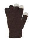 Перчатки для смартфона коричневые