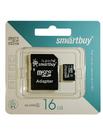 Карта памяти SmartBuy microSDHC Class 10 16GB